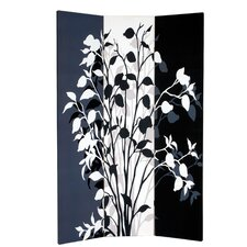 "71"" x 51"" Double Sided Painted Canvas 3 Panel Room Divider"