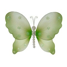 Isabella Pearl Butterfly Hanging Organza Nylon 3D Wall Decor