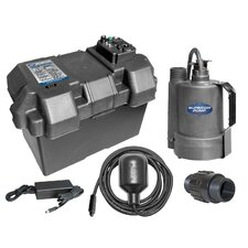 1080 GPH Battery Back Up Sump Pump with Tethered Float Switch