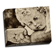 Angel Cherub Spiritual Photographic Print on Wrapped Canvas