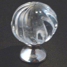 "Crystal 1.19"" Round Swirl Knob"