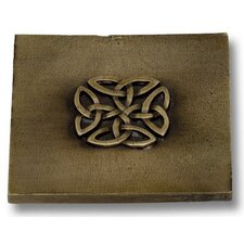 """Celtic 4"""" x 4"""" Pewter Hand-Painted Tile Antique Brass"""
