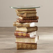 Deja Sculptural Glass Topped End Table