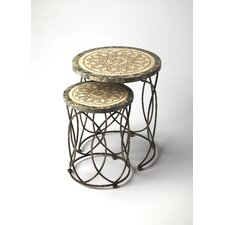 Metalworks 2 Piece Kinich Nesting Tables