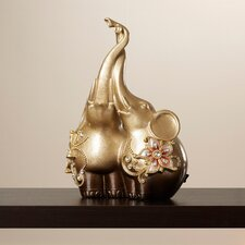 Shanti Elephants Entwined Figurine