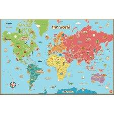 Lucas World Map Wall Decal
