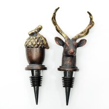 Biltmore Inspirations 2 Piece Antler Hill Wine Stopper Set