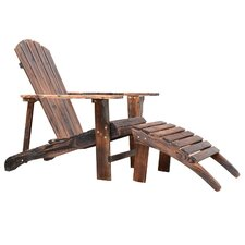 Wooden Adirondack Outdoor Patio Lounge Chair