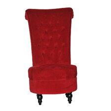 Tufted High Back Velvet Side Chair