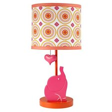 """Party Elephant 14.5"""" H Table Lamp with Drum Shade"""