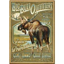 'Big Bull Outfitters' Vintage Advertisment Plaque