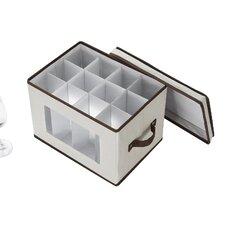 Flute Style Stemware Glass Storage Chest
