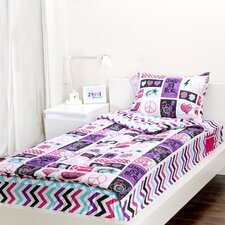 Rocker Princess 3 Piece Twin Comforter Set