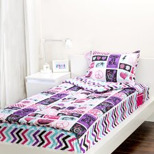 Rocker Princess 3 Piece Full Comforter Set
