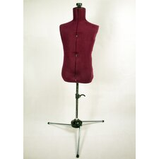 Family Adjustable Child-size Maroon Nylon Mannequin Dress Form