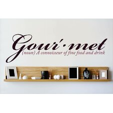 Gourmet a Connoisseur of Fine Food and Drink Wall Decal