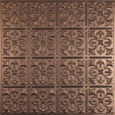 Signature 2 ft. x 2 ft. Lay-In or Glue-Up Ceiling Tile in Faux Bronze (Set of 6)
