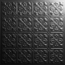 Signature 2 ft. x 2 ft. Lay-In or Glue-Up Ceiling Tile in Black (Set of 6)