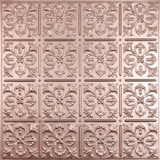 Signature 2 ft. x 2 ft. Lay-In or Glue-Up Ceiling Tile in Faux Copper (Set of 6)