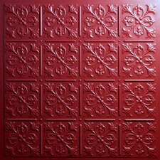 Signature 2 ft. x 2 ft. Lay-In or Glue-Up Ceiling Tile in Merlot (Set of 6)