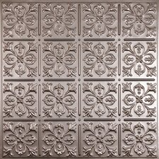 Signature 2 ft. x 2 ft. Lay-In or Glue-Up Ceiling Tile in Faux Tin (Set of 6)