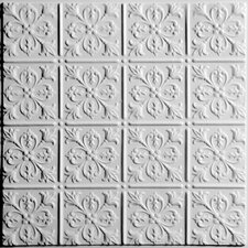 Signature 2 ft. x 2 ft. Lay-In or Glue-Up Ceiling Tile in White (Set of 6)