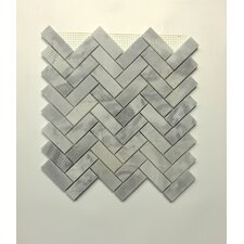 "2 1/2"" Herringbone Mosaic Polished in Blue Argentino"