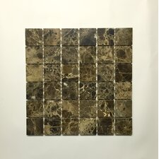"Dark Emperador 2"" x 2"" Square Mosaic Polished"