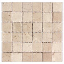 "2"" x 2"" Square Mosaic Polished in Crema Marfil"