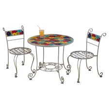 Kids 3 Piece Bistro Table and Chair Set