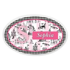 Personalized Toile Oval Wall Plaque