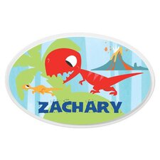Personalized Dinosaur Oval Wall Plaque