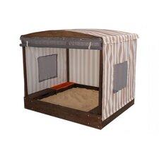 Cabana 4' Rectangular Sandbox House with Roll up Cover