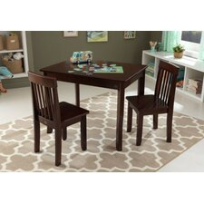 Avalon Kids 3 Piece Rectangular Table and Chair Set