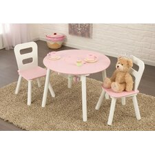 Kid's 2 Piece Round Table and Chair Set