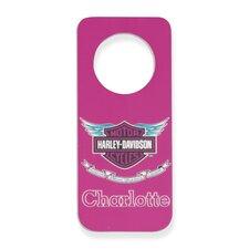 Personalized Harley Davidson Girls Door Hanger