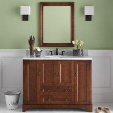 """Traditions Milano 50"""" Single Bathroom Vanity Set with Mirror"""