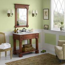 "Traditions Palermo 37"" Single Bathroom Vanity Set with Mirror"