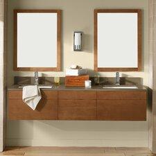 "Rebecca 23"" Wall Mount Bathroom Vanity Base Cabinet in Cinnamon"