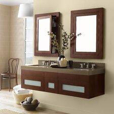 """Rebecca 23"""" Double Wall Mount Bathroom Vanity"""