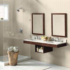 """Adina 61"""" Double Wall Mount Bathroom Vanity Set with Mirror"""