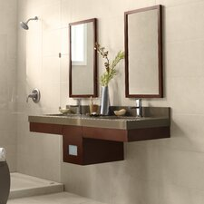 "Adina 23"" Wall Mount Bathroom Vanity Base Cabinet in Dark Cherry"