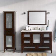"Athena 48"" Single Bathroom Vanity Set with Mirror"