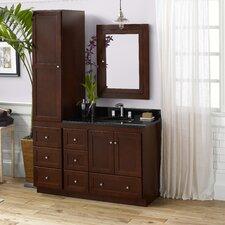 "Shaker 51"" Single Bathroom Vanity Set"