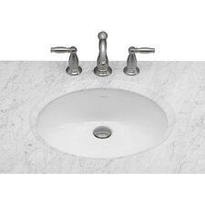 Oval Ceramic Undermount Bathroom Sink in White