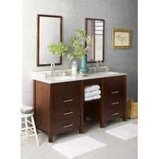 "Kali 61"" Double Bathroom Vanity Set with Mirror"
