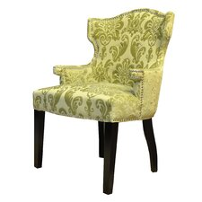 Brittania Fan Damask Wingback Chair
