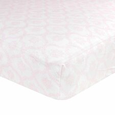 Classic Collection Trellis Pink Fitted Crib Sheet