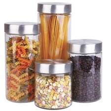 4 Piece Canister Set with Lid
