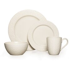 Hayes White 16 Piece Dinnerware Set